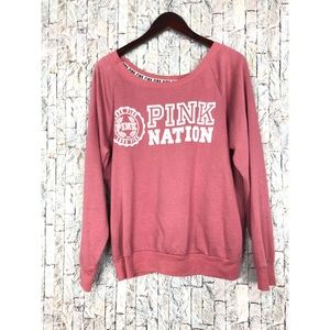 """Victoria's """" Pink Nation"""" Blush Sweatshirt"""